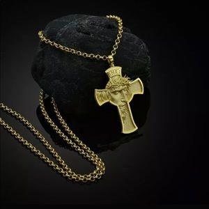 🔥2/$40🔥18K Gold Filled Jesus Cross Necklace